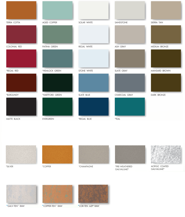 Metal Roof Color Chart Ibovnathandedecker